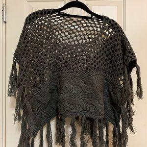 Ya Poncho Sweater Sz S